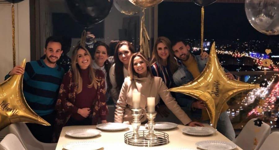 Diego Pachón, Carolina Soto, Amanda Avella, Tatiana Franco, Melissa Martínez, Ana Karina Soto y Camilo Pardo