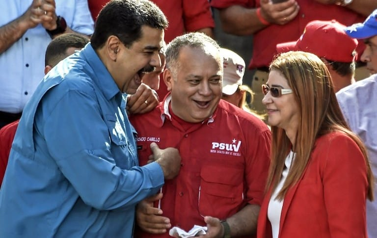 Nicolás Maduro, Diosdado Cabello y Cilia Flores