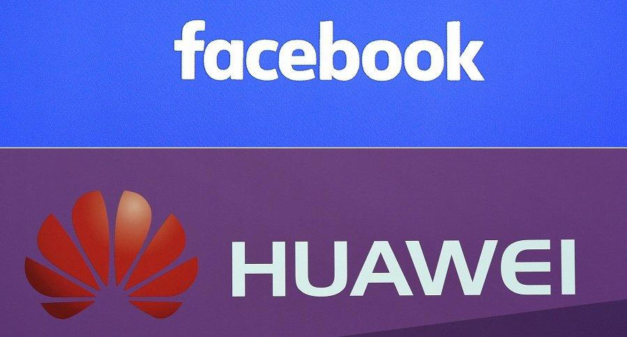 Logos de Facebook y Huawei