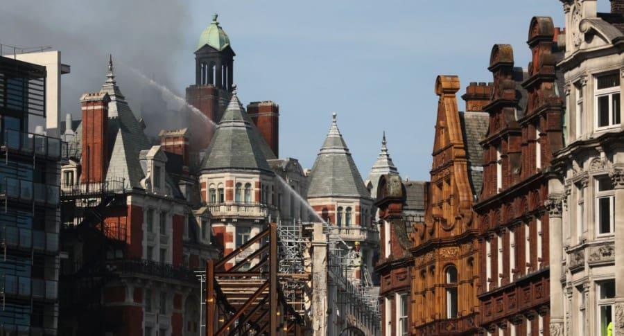 Incendio en hotel de Londres