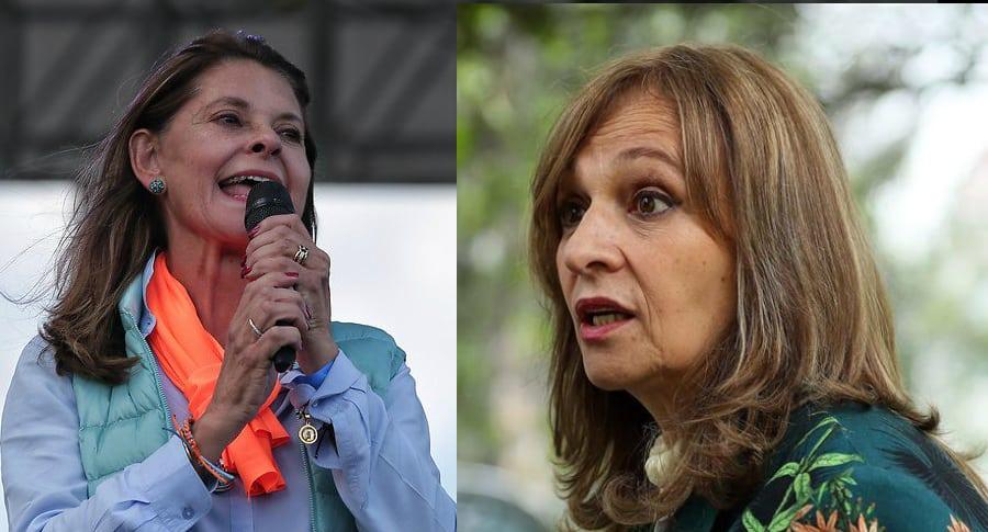Marta Lucía Ramírez y Angela Robledo