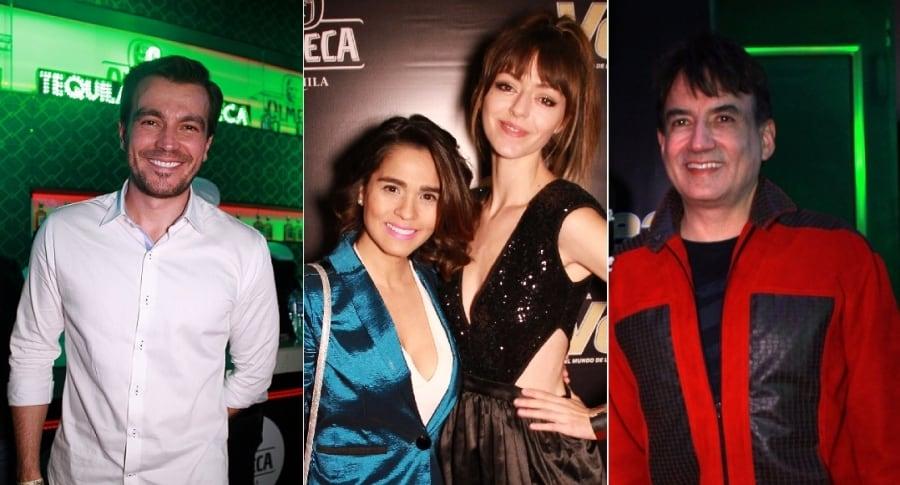Luciano D'Alessandro, actor; Mimi Anaya, acordeonera; Luna Báxter, actriz; y Sergio Barbosa, exdirector de 'Estilo RCN'.