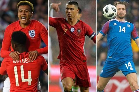 Inglaterra, Portugal e Islandia