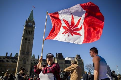 Marcha a favor de la legalización de la marihuana.