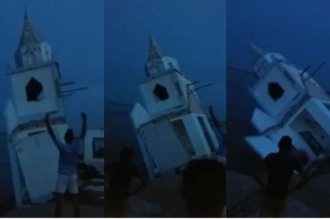 Río Magdalena se lleva una iglesia