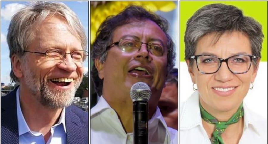 Antanas Mockus, Gustavo Petro y Claudia López