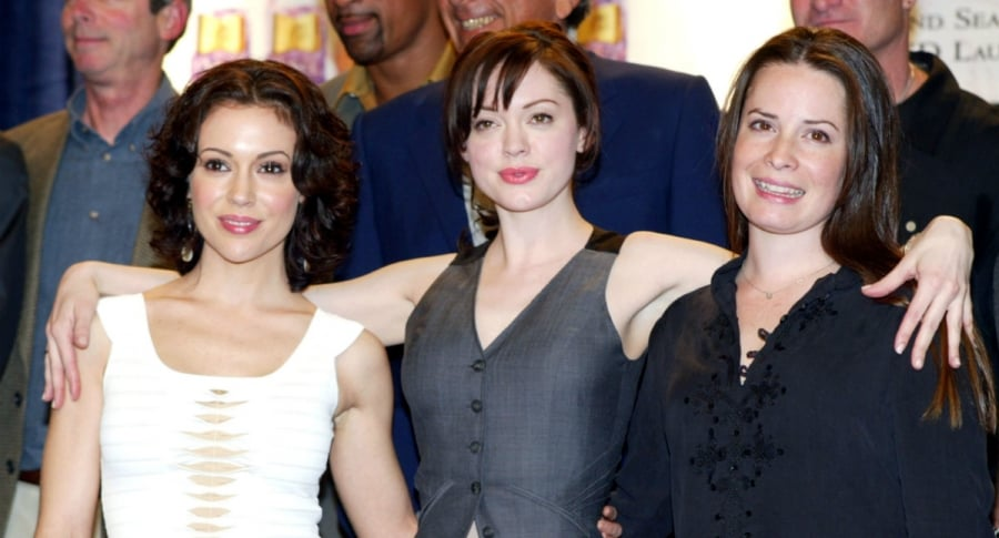 Alyssa Milano, Rose McGowan yH olly Marie Combs, protagonistas de 'Charmed'