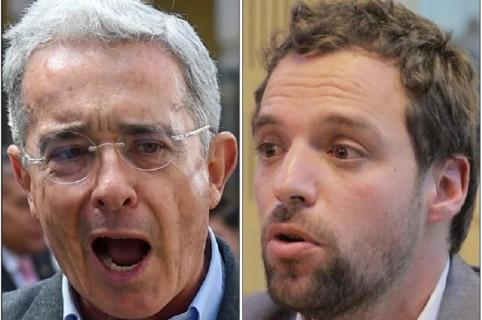 Álvaro Uribe y Luis Ernesto Gómez