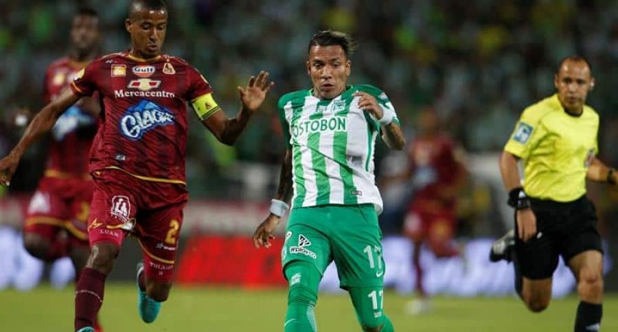 Dayro Moreno en la final de la Liga Águila ante Tolima