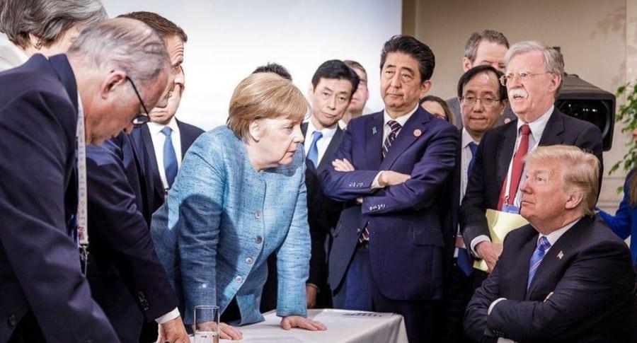 Donald Trump en la cumbre G7 en Canadá