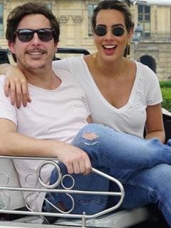 Riaño con su novia