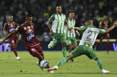 Sebastián Villa en la final de la Liga Águila