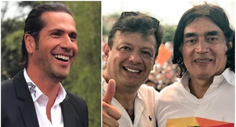 Gregorio Pernía, Hollman Morris y Gustavo Bolívar.