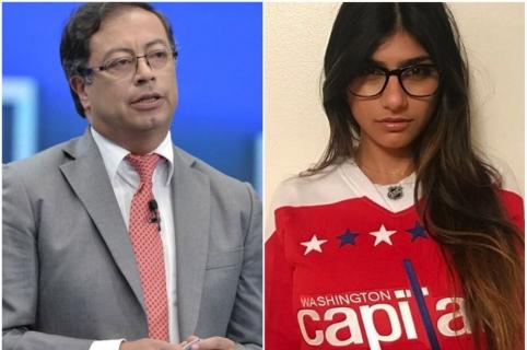 Gustavo Petro, candidato presidencial. / Mia Khalifa, exactriz porno.