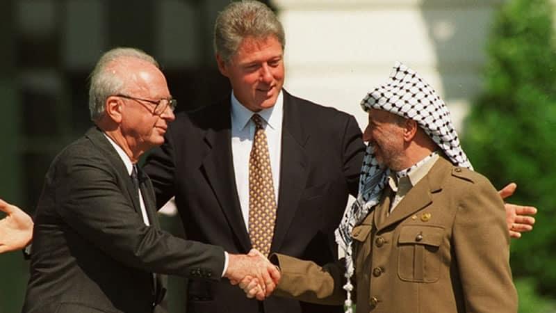 Yaser Arafat y Isaac Rabin