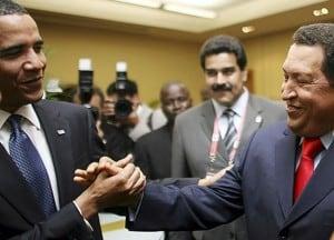 Obama y Chavez