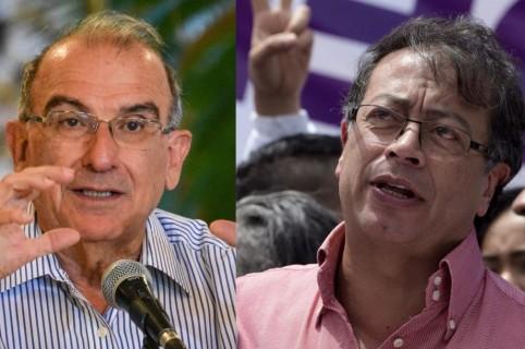Humberto de la Calle y Gustavo Petro