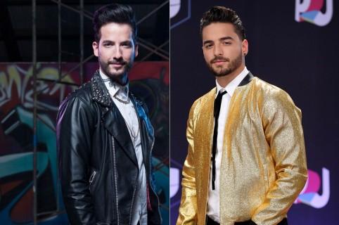 Carlos Torres, actor, y Maluma, cantante.