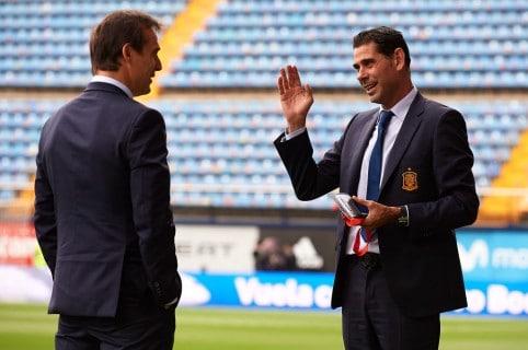 Julen Lopetegui y Fernando Hierro