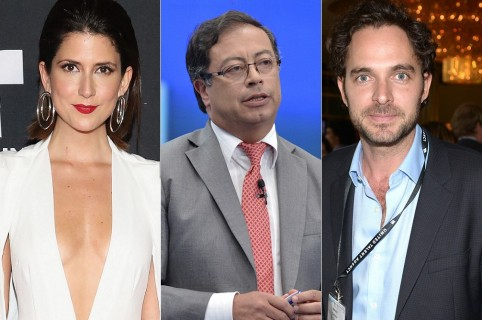 Valentina Acosta y Manolo Cardona, actores; y Gustavo Petro, político.Valentina Acosta y Manolo Cardona, actores; y Gustavo Petro, político.