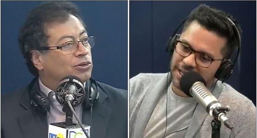 Gustavo Petro y Luis Carlos Vélez