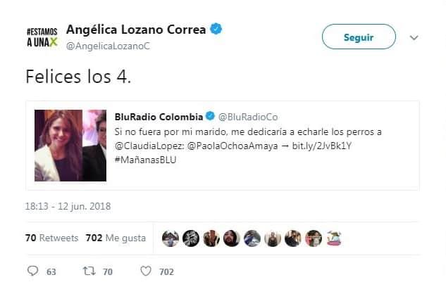 Twitter Angélica Lozano