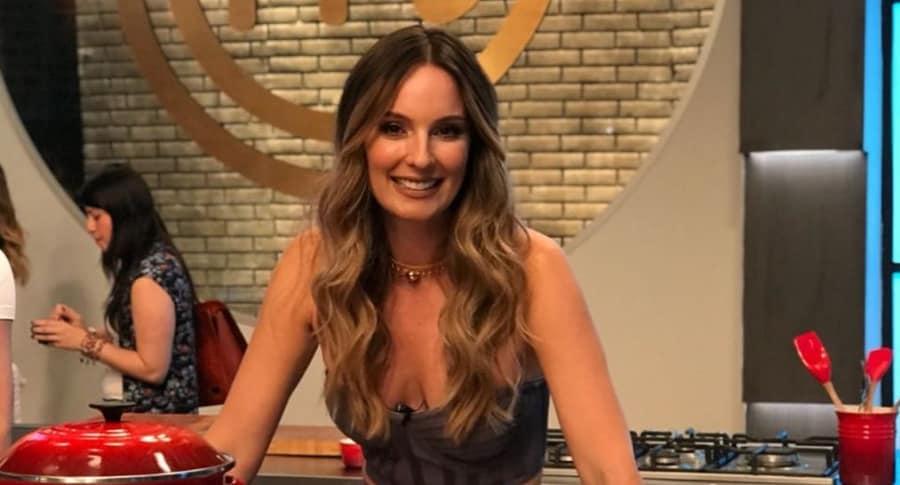 Claudia Bahamón, presentadora.