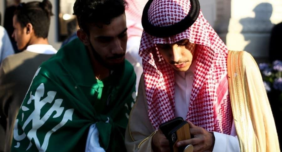 Hinchas Arabia Saudita