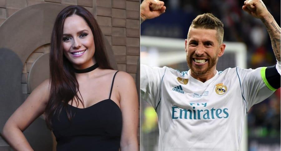 Ana Lucía Domínguez, actriz, y Sergio Ramos, futbolista.