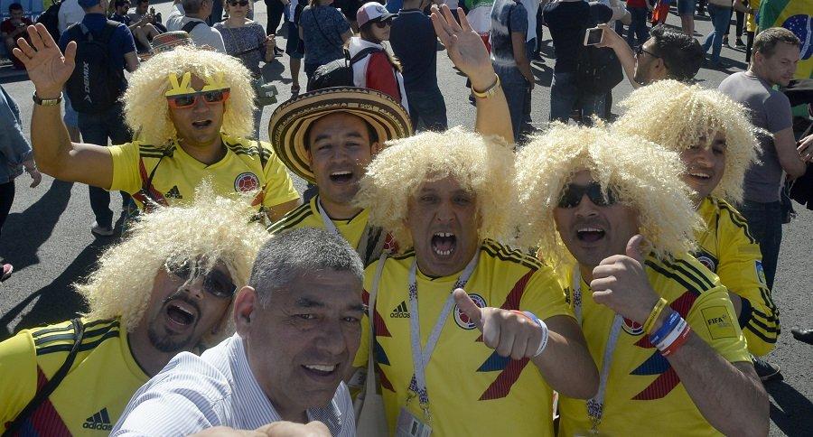 Aficionados Colombianos en Rusia
