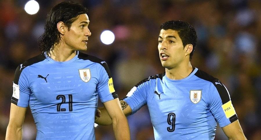 Édinson Cavani y Luis Suárez, figuras de Uruguay