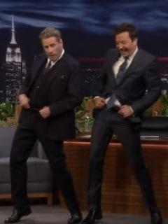 John Travolta y Jimmy Fallon