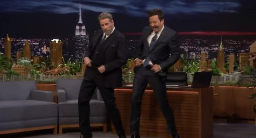 John Travolta y Jimmy Fallon