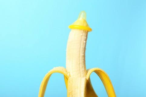 Banana con condón