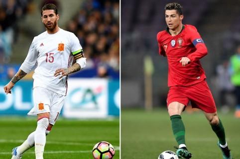 Sergio Ramos y Cristiano Ronaldo