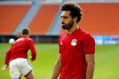 Entrenamiento de la selección egipcia en Ekaterinburgo