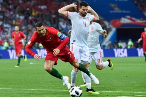 'Nacho' Fernández y Cristiano Ronaldo