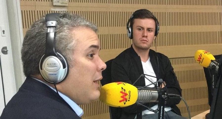 Iván Duque en La W Radio