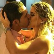 Daniela Donado, actriz, y su esposo Virgilio Torres Vengoechea.