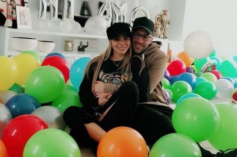 David Ospina, arquero de la Selección Colombia, y su esposa Jessica Sterling.