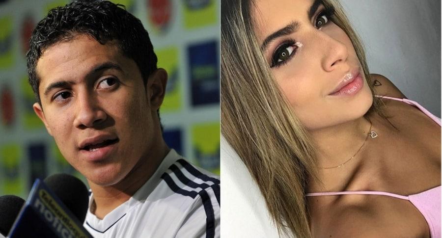 Michael Ortega, futbolista, y Michelle Delgado, modelo.