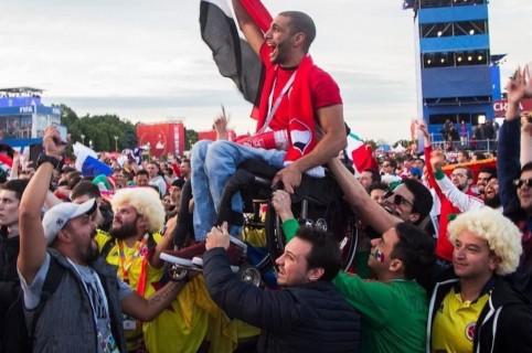 Hinchas colombianos en Rusia