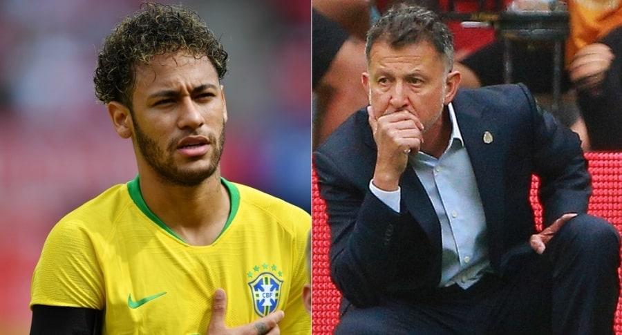 Neymar y Juan Carlos Osorio
