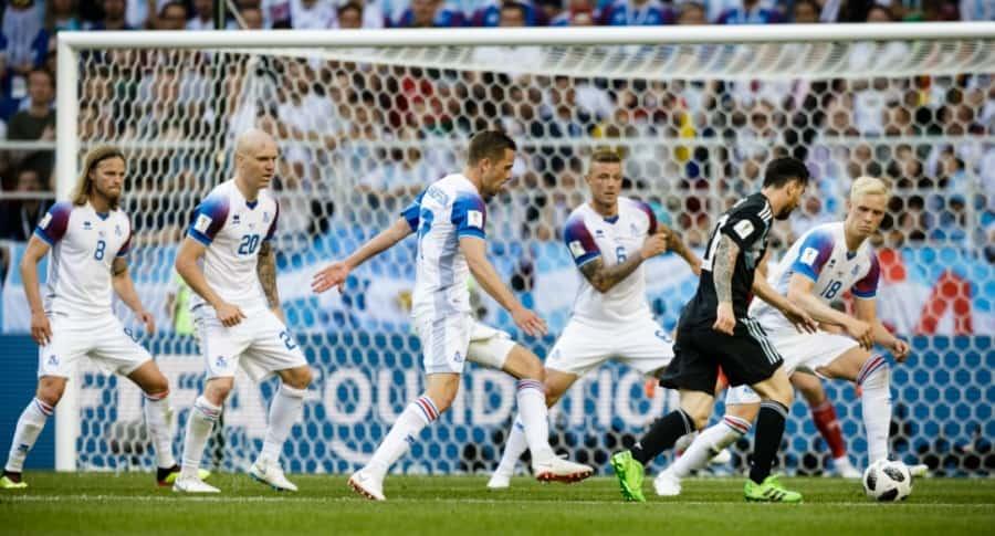Messi contra Islandia