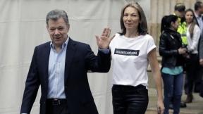 Juan Manuel Santos, presidente, y su esposa 'Tutina'.