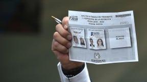 Tarjetón elecciones presidenciales Colombia.