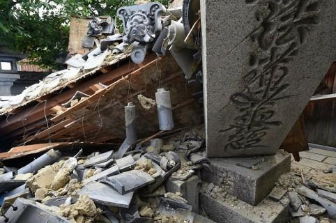 Colapso de casa por sismo en Japón
