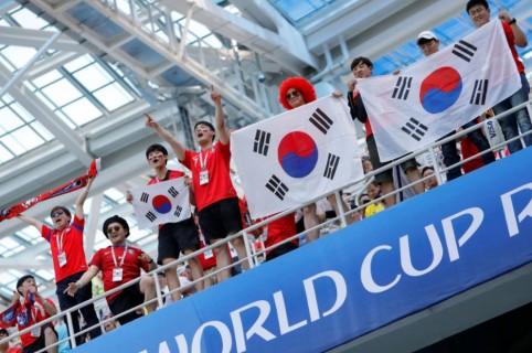 Hinchas de Corea del Sur
