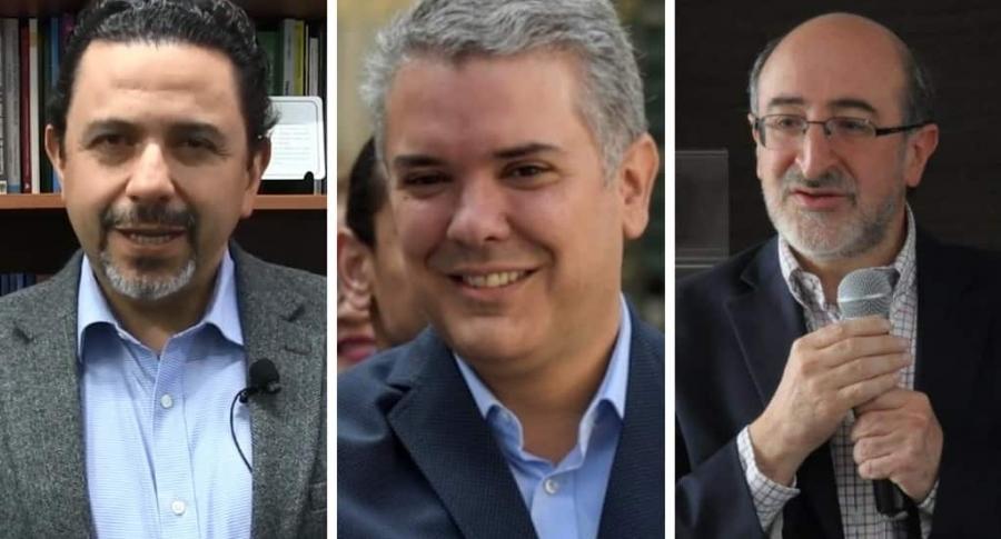 Iván Duque, Juan Lozano y Miguel Ceballos
