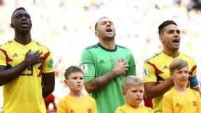 Dávinson Sánchez, David Ospina y Falcao en el himno de Colombia